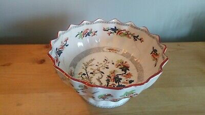 Antique Copeland & Sons Indian Tree Large Footed Bowl, 10 , A/F • 12.50£