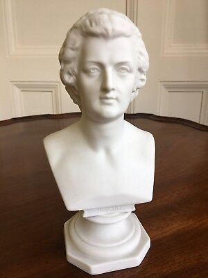 A Parian Bust Of Mozart, C.1880. Impressed Marks, Possibly KPM. 19.5cm. • 90£