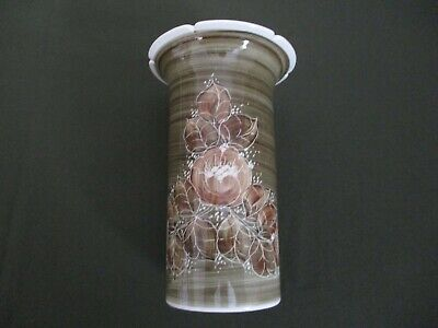 Vintage Jersey Pottery Vase ~ Green Brown Large • 12.99£