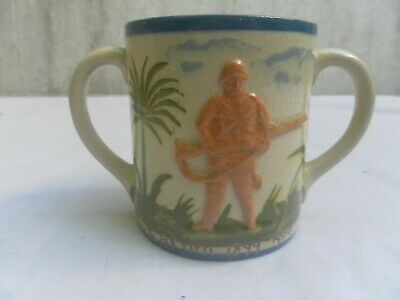 Tommy Atkins, South Africa 1899-1900, Aller Vale Pottery, Two Handled Mug • 50£