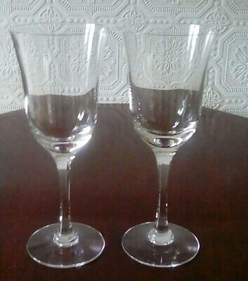 Dartington Crystal Pair Vintage Shelley White Wine Glasses • 15£