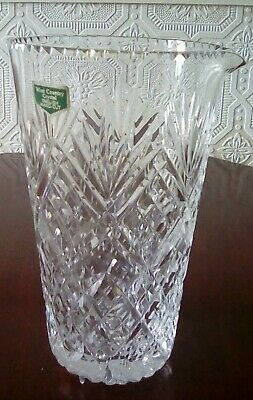 Handcut Crystal Cocktail Mixer Westcountry Crystal England With Label • 12£