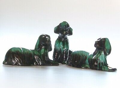 Blue Mountain Pottery, 3 X Dogs • 25£
