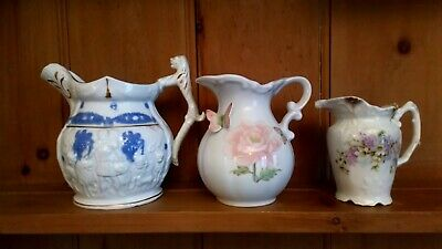 Lot Of 3 Vintage Jugs, Unmarked, Good Condition • 20£