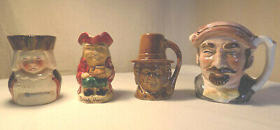 4 Small Toby Jugs Inc. Welsh Lady, Broad Haven, Fairylite • 7.50£