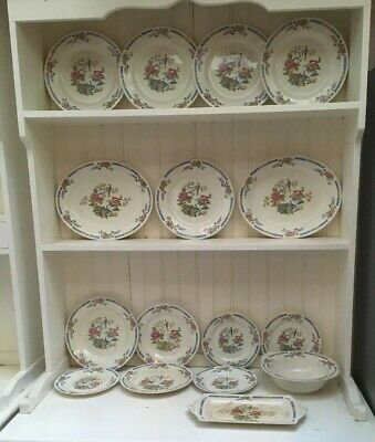 Lord Nelson Ware Tsing Plates Set Dinner Staffordshire Vintage • 15£
