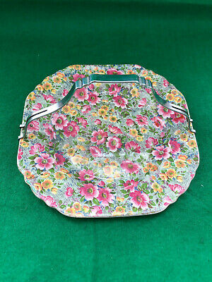 Vintage Lord Nelson Ware Floral Cake Stand - Cake Plate With Handle -Chintz • 4.99£