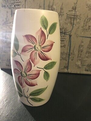 Vintage Edward Radford England Hand Painted Delicate Floral Design Vase As Seen • 11£