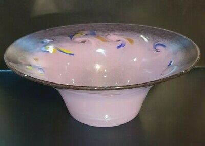 Monart/Vasart/Strathearn Perthshire Scottish Glass Pink Flared Vase/Bowl • 69.99£