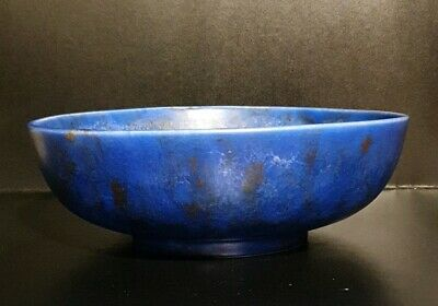 LARGE ART DECO C.1920'S CLEWS & CO TUNSTALL CHAMELEON WARE HAND PAINTED BOWL • 16.99£