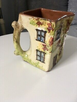 Vintage Quirky Ceramic Cottage Design Jug With Autumnal Colours • 5£