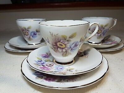 Royal Sutherland Fine Bone China 3x Trio • 20£