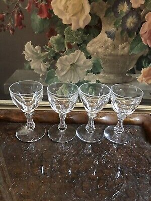 Val St Lambert VAS50 Similar Lalaing Lens Cut Air Stem Wine Glasses Crystal 4 • 69£
