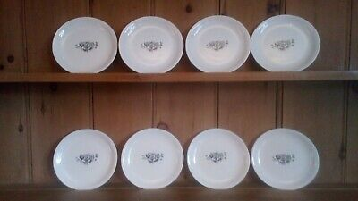 1950s Pountney & Co Bristol, Set Of 8 Side Plates, 7 , Mid Century Modern • 22£