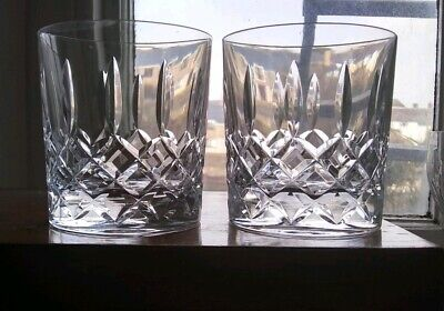 Large Pair Of Glass Cut Crystal Tumblers • 18£