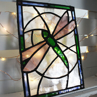 Dragonfly Stained Glass Hanger, For Wall, Window Or Suncatcher • 30£