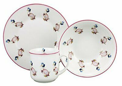 Jemima Puddleduck - 3 Piece Porcelain Breakfast Dining Set - Cup Bowl Plate • 12.99£
