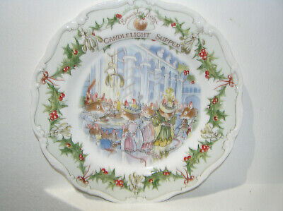 Brambly Hedge Royal Doulton Candlelight Supper 8  Plate Christmas Midwinter  • 34.50£
