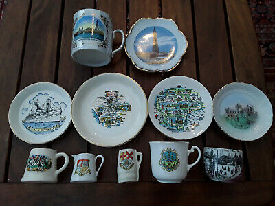 Selection Of Crested/Souvenir Ceramics - English Destinations • 5£