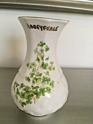 Vintage Ballyporeen, Abbeyfearl Souvenir Fine Bone China Vase Made In Ireland • 5£