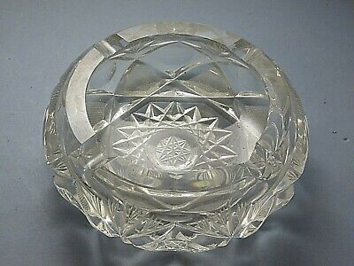 Antique Lovely Cut Glass Lead Crystal Ashtray  • 24.99£