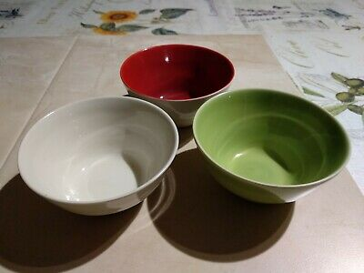 Vintage Set Of 3 Matching Small Eslau Stoneware Pottery Bowls From Denmark    • 9.99£