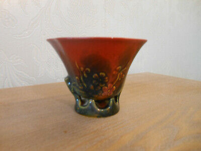 Very Unusual Royal Doulton Vintage Flambe Sung Vase Initialled F. M (Fred Moore) • 165£