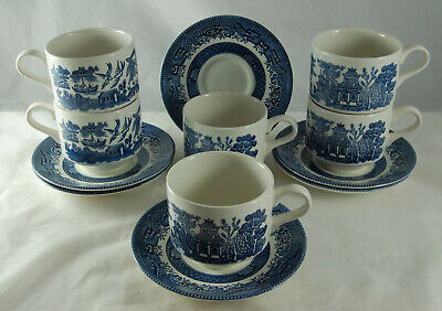Churchill - Willow 6 Cups & Saucers • 10£