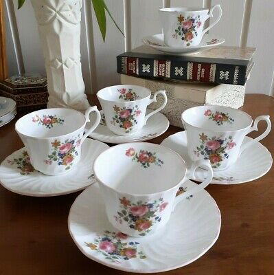 ROYAL SUTHERLAND FINE BONE CHINA TEA  TRIO X5 . VINTAGE.  • 20£