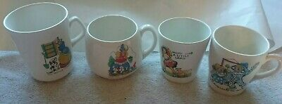 Vintage Nursery Rhymes Cups, Two Beswick,Andy Pandy, Mother Hubbard, Mary Mary • 10£