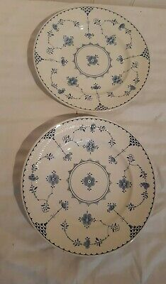 2 X Blue And White Furnivals Denmark Dinner Plates 10 Inches  Small Marks • 18£