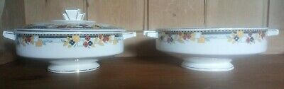 Art Nouveau Furnivals Pair Of Footed Vegetable Dishes • 22£