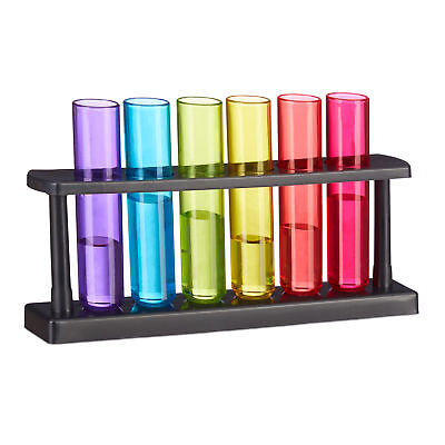 Test Tube Shot Glasses, 6-Piece Set, Colourful Liqueur Glassware, 4 Cl • 27.90£