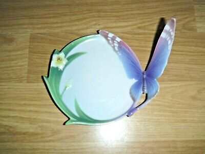 Franz Porcelain Butterfly & Daffodil Dish ~ Excellent • 24.99£
