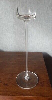 Vintage Wedgwood Glass Clear Brancaster Candle Holder - RSW15/3 - 11 1/2  Tall • 14.97£