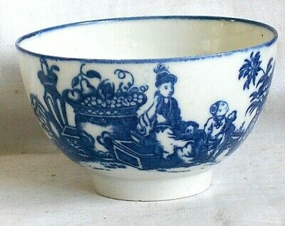 C18th Worcester Tea Bowl In The Mother And Child Pattern • 10£