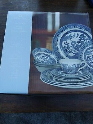 Churchill Blue Willow 20 Piece Dinner Set • 39£