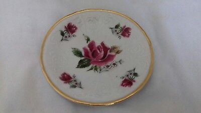 Small Bernadotte Side Plate With Rose On It  ( Czechoslovakia ) • 3.99£