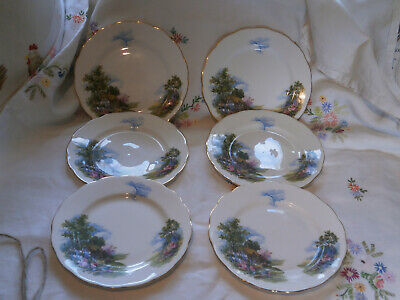 ROYAL VALE X 6 Tea Plates In Good Used Condition. • 4.99£