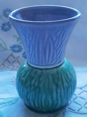 Vase Thistle Design Dunoon Pottery • 3£