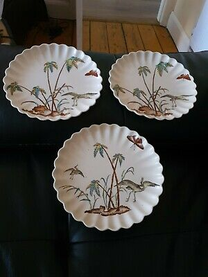 Antique Aesthetic Copeland Cake Stand And 2 Matching Plates Dated 1885  • 40£
