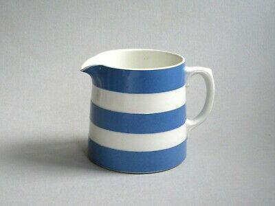 Retro Vintage T G Green Cornishware Dreadnought Blue And White Milk Jug 1/2 L  • 7.99£