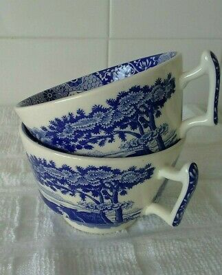 Spode Italian, Blue & White Tea Cups X 2  • 6.99£