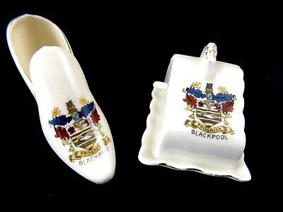 Isla - Vintage Crested Shoe And Cheese Dish Souvenirs From Blackpool • 1.99£