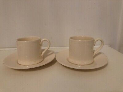 Hartley Greens - Leeds Pottery - Hunslet Roulette - 2 X Coffee Cups & Saucers • 33£