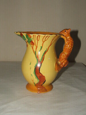 Burleigh Ware Art Deco Squirrel Handled Jug Truly Stunning • 14.99£