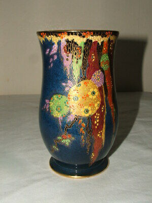 Crown Devon Art Deco Abstract Floral  Super Shaped Vase Stunning • 31£