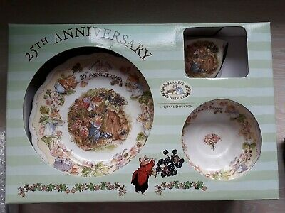 Royal Doulton Brambly Hedge 25 Years Celebration Gift Set Lady Woodhouse • 75£