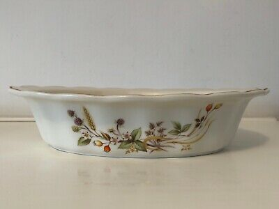 M&S Harvest - Fluted Oval Pie/Serving Dish - 9.75  X 7.5  - VGC • 6£