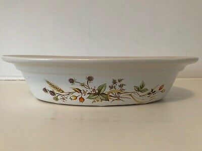 M&S Harvest - Oval Pie/Serving Dish - 9.5  X 7.25  - VGC • 6£
